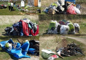 Fem store bunker affald og hygge ved Naturskolen - fotos Britta Lunnemann