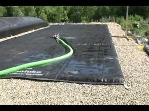 ikke-fyldt geotube
